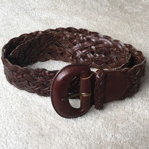 Talbots Vintage Braided Leather Belt Medium